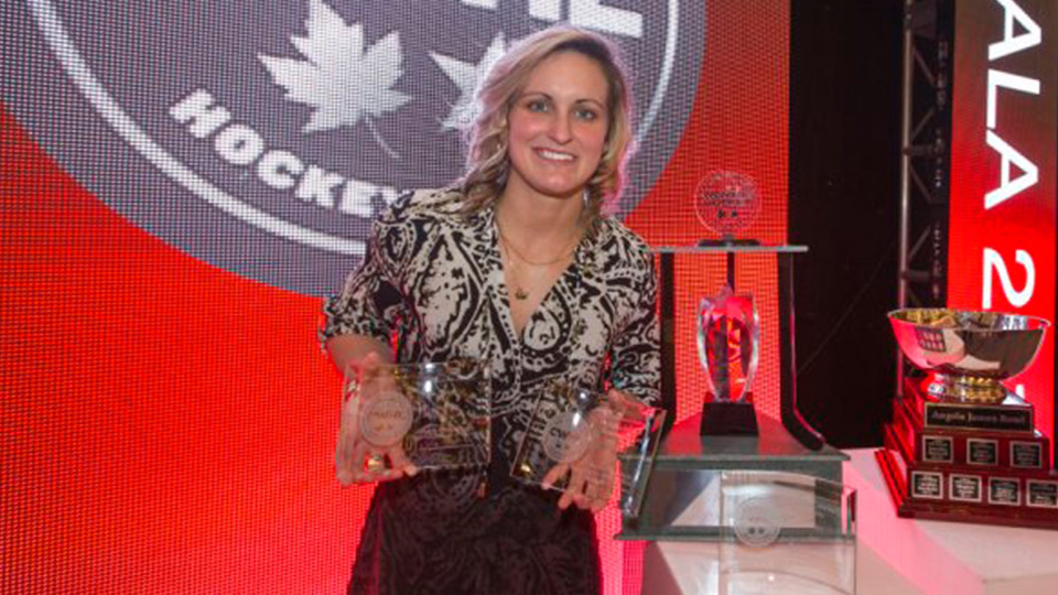 Poulin wins big at CWHL Awards Gala